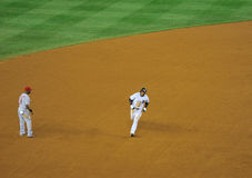 Robinson Cano hits a home run Stock Images