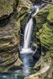 Robinson Falls på den Boch fördjupningen - Ohio royaltyfria bilder