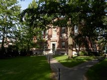 Robinson Hall, jarda de Harvard, Universidade de Harvard, Cambridge, Massachusetts, EUA Imagem de Stock