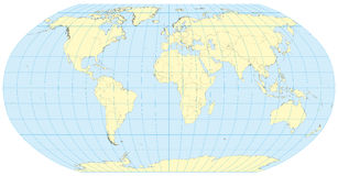 Robinson Map of the world Stock Images