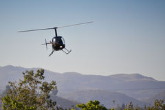 Robinson R22 Beta. LOS ANGELES, CA. - JUNE 30:  - American Heroes Air Show on June 30, 2012 in Los Angeles CA at the Hansen Dam Sports Complex Royalty Free Stock Photos