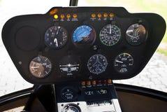 Robinson R44 - Quadro portastrumenti Fotografie Stock