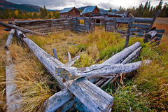 Robinson Roadhouse, South Klondike Highway, Yukon, Canada. The remains of the Robinson Roadhouse on the Klondike Highway in the Yukon Territories, Canada royalty free stock photography