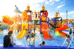 Robinson water park Royalty Free Stock Image