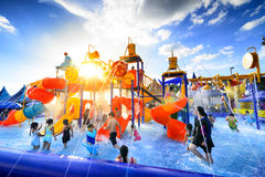Robinson water park Royalty Free Stock Images
