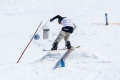 Robinson Weiske during the Snowboard National Championships Stock Photography