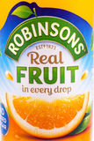 Robinsons Fruit Cordial Drink Stock Images