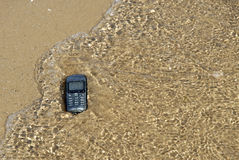 Robinsons Rescue 10. Mobile phone was washed ashore royalty free stock photos