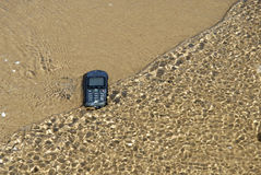 Robinsons Rescue 11. Mobile phone was washed ashore stock photography