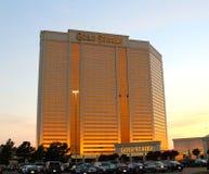 金子罢工旅馆、赌博娱乐场和赌博手段被膜, Robinsonville密西西比 免版税库存图片