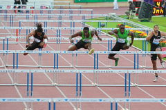 ROBLES Dayron (CUB). Win the 110m Hurdles in 13.12 sec, at the Athletissima 2011. Samsung Diamond League. Lausanne.30.06.2011 Stock Photography