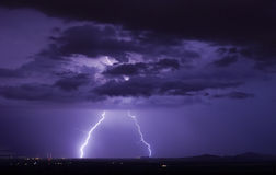 Robles Junction Lightning Stock Images