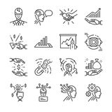 Robo advisor line icon set. Included the icons as robot, ai, cyborg, fintech, analyze, financial and more. Line icon vector: Robo advisor line icon set Stock Photography