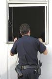 Robo con allanamiento de morada de investigación de la policía Foto de archivo libre de regalías