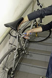 Robo de la bici Fotos de archivo libres de regalías