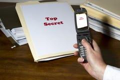 Robo de secretos de la industria Imágenes de archivo libres de regalías