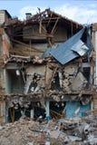 Robo en casa, demolición de buiding Imágenes de archivo libres de regalías
