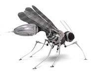 Robo-mosquito. 3d robo-mosquito - high detials model stock illustration