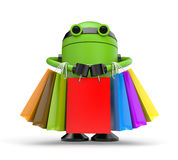 Robo shopping Stock Photography