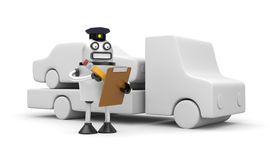 Robocop officer towing auto Royalty Free Stock Photos