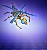 RoboFly bakgrund Fotografering för Bildbyråer