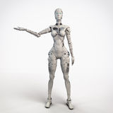 Robogirl Fotos de Stock Royalty Free