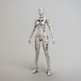 Robogirl. The highly detailed robot girl Stock Photography
