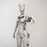 Robogirl Royalty Free Stock Photo