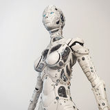 Robogirl. Highly detailed torso of the robot girl Royalty Free Stock Photo