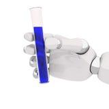 Robohand et essai-tube Images stock