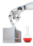 Robohand and test-tube Stock Images