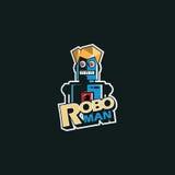 Roboman bedrijfsembleembedrijf Stock Afbeeldingen