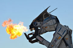 Robosaurus breathing Fire Royalty Free Stock Photography