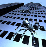 Robospiders Attack Stock Images