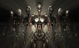 Robotów żołnierze Obrazy Royalty Free