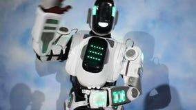 Robotów powitania Android mówi cześć zdjęcie wideo