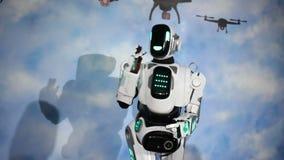 Robotów powitania Android mówi cześć zbiory