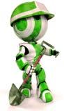 robot łopata ilustracji