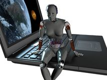The robot Stock Images
