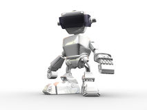 Robot. 3d render of a robot on the white background Royalty Free Stock Photos
