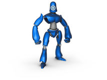 Robot. 3d render of a robot on the white background Stock Photos