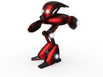 Robot. 3d render of a robot on the white background Royalty Free Stock Images