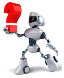 Robot. Fun 3d robot, 3d generated picture Royalty Free Stock Image