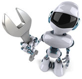 Robot. Fun 3d robot, 3d generated picture Royalty Free Stock Photos
