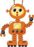 Robot. Toy retro-style orange Stock Photos
