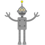 Robot. Nice robot illustration in grey colors Stock Photography