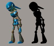Robot. Digital figure for your artistic creations stock illustration