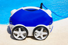 Robot. Modern robot in a  pool Royalty Free Stock Photos