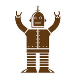 Robot Logo Royalty Free Stock Image