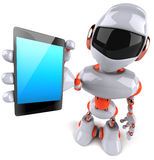 Robot. Fun 3d robot, 3d generated picture Royalty Free Stock Photography